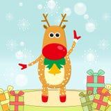 Alces de la Navidad Foto de archivo libre de regalías
