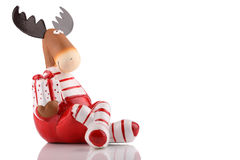 Alces do Natal Fotografia de Stock Royalty Free