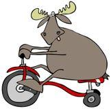 Alces en un triciclo libre illustration