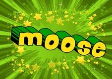 Alces - frase ilustrada vector del estilo del cómic stock de ilustración