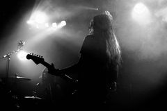 Alcest (French shoegaze band) performance at Apolo stage Royalty Free Stock Photos