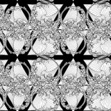 Element of water BW Seamless pattern Royalty Free Stock Images