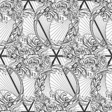 Element of water BW Seamless pattern Stock Images