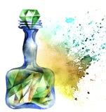 Alchemical magische Flasche lizenzfreie abbildung