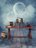 Alchemical objects Royalty Free Stock Image