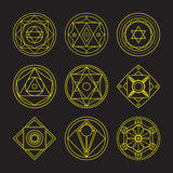 Alchemical round  set. Stock Images