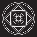Alchemical round vector. Royalty Free Stock Photos