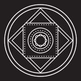 Alchemical round wektor Zdjęcia Royalty Free