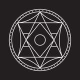 Alchemical runder Vektor Stockbild
