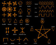 Alchemical Signs. Slavic amulets symbols.  Royalty Free Stock Images