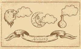 Alchemical Symbols Royalty Free Stock Photos