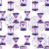 Alchemical transmutacja okregów wzór i ilustracja wektor