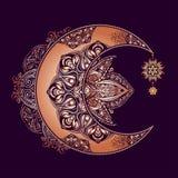 Alchemii księżyc słońce Fotografia Royalty Free