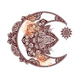 Alchemii księżyc słońce Zdjęcie Royalty Free