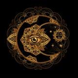 Alchemii księżyc słońce Obraz Stock
