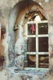 Alchemika sklep w Vyborg Pionowo fotografia, w górę obrazy royalty free