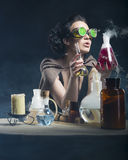 Alchemist girl Stock Photo
