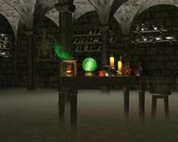 The Alchemist's Laboratory Stock Image