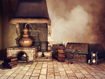 Alchemist`s stove and other objects Royalty Free Stock Photos