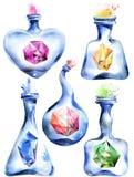 Alchemistische magische fles royalty-vrije illustratie
