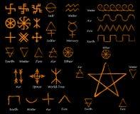 Alchemistische tekens Slavische amulettensymbolen vector illustratie