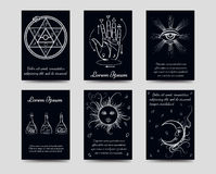Alchemy and cards set Stock Photography
