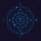 Alchemy Geometry Symbol Thin Line. Vector Royalty Free Stock Photo