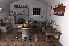Alchemy laboratory Royalty Free Stock Image