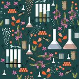 Alchemy seamless pattern. Vector illustration Royalty Free Stock Image