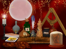 Alchemy still life background Royalty Free Stock Images