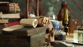 Alchemy still life stock footage