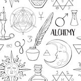 Alchemy symbols pattern. Set of trendy symbols collection. Vector illustration, EPS 10 vector illustration
