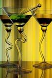 Alchol colorido en vidrios curvados Foto de archivo