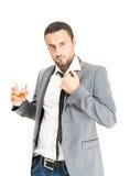 Alchool de la bebida del hombre de negocios imágenes de archivo libres de regalías