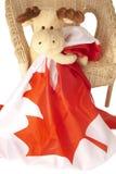 Alci che tengono una bandierina canadese Fotografia Stock