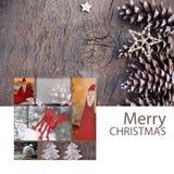 Alci della cartolina d'auguri di Buon Natale Fotografia Stock