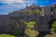Alcántara bridge - Toledo, Spain Royalty Free Stock Photography