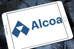Alcoa Corporation logo. Logo of Alcoa Corporation on samsung tablet . Alcoa is an American industrial corporation. It is the world`s fifth largest producer of stock photos