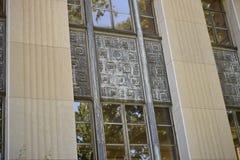 Alcoa ` s铝窗玻璃 库存照片