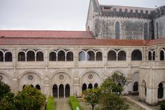 Alcobaca monastery, Portugal. The Alcobaça Monastery Portuguese: Mosteiro de Alcobaça, Mosteiro de Santa Maria de Alcobaça is a Roman Catholic church located Royalty Free Stock Photography