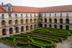 Alcobaca monastery, Portugal. The Alcobaça Monastery Portuguese: Mosteiro de Alcobaça, Mosteiro de Santa Maria de Alcobaça is a Roman Catholic church located Royalty Free Stock Images