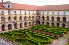 Alcobaca monastery, Portugal. The Alcobaça Monastery Portuguese: Mosteiro de Alcobaça, Mosteiro de Santa Maria de Alcobaça is a Roman Catholic church located Royalty Free Stock Photo