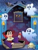 Alcoba de la pared con el tema 5 de Halloween Foto de archivo