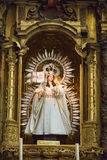 Alcoba en iglesia católica foto de archivo libre de regalías