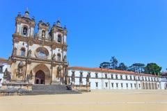 Alcobaca修道院和教会。 科教文组织,葡萄牙 免版税库存图片