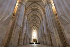 Alcobaca kloster Mästerverk av den gotiska arkitekturen Cistercian religiös beställning Royaltyfri Foto