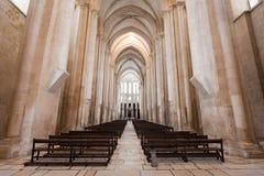 Alcobaca-Klosterinnenraum Stockfotografie