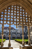 Alcobaca medeltida Roman Catholic Monastery, Portugal royaltyfria bilder