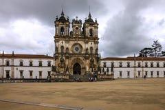 Alcobaca Medieval Roman Catholic Monastery, Portugal.  stock photos