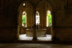 Alcobaca Monastery cloister, Alcobaca, Portugal Royalty Free Stock Image